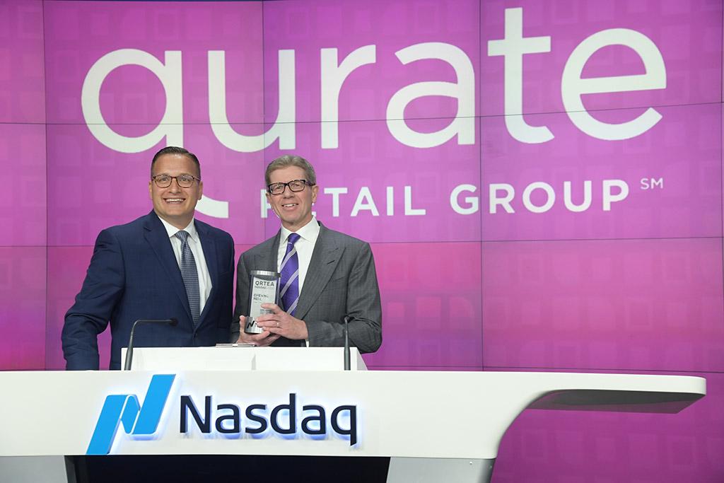 Joe Brantuk (Nasdaq) and Mike George (Qurate Retail CEO)