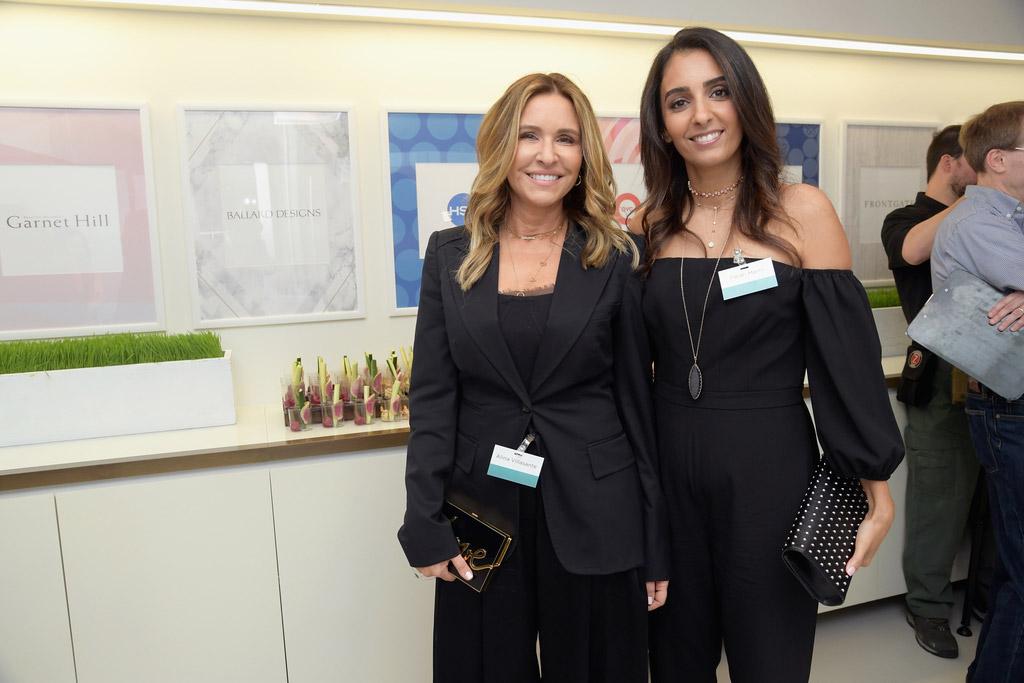 Alina Villasante (Peace Love World) and Farah Merhi (Inspire Me! Home Decor)