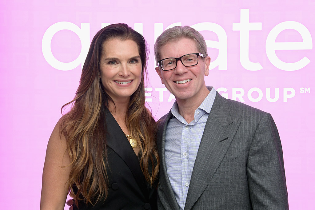 Brooke Shields (Brooke Shields Timeless) and Mike George (Qurate Retail CEO)