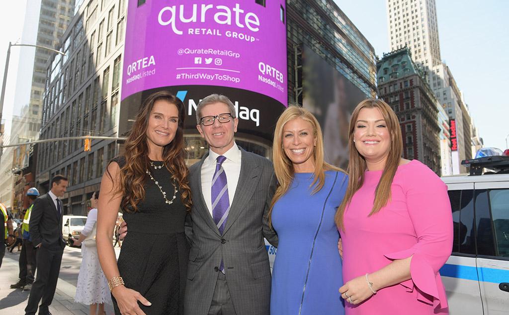 Brooke Shields (Brooke Shields Timeless), Mike George (Qurate Retail CEO), Jill Martin (G.I.L.I.), Jamie Kern Lima (IT Cosmetics)
