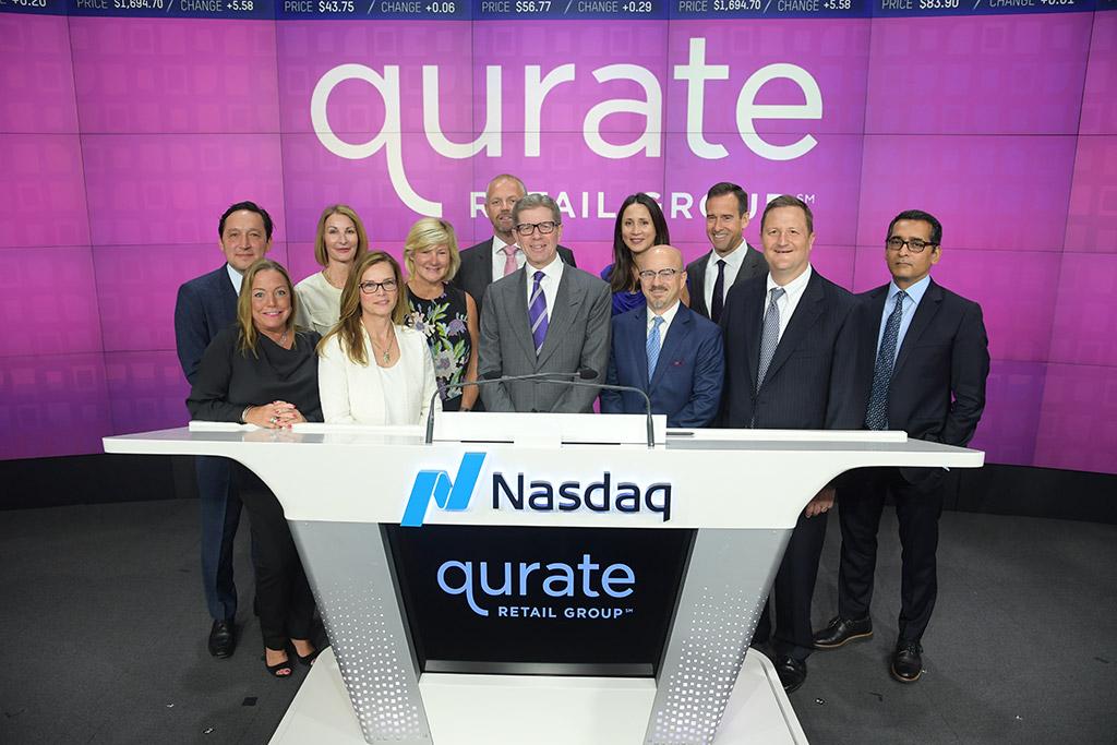 Qurate Retail leaders at the Nasdaq podium