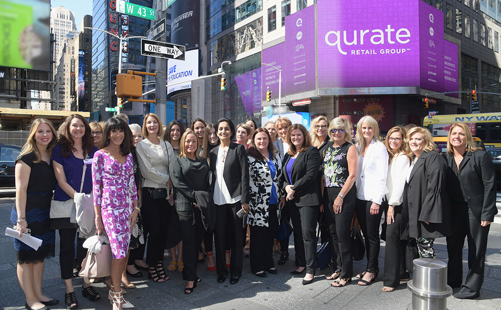 The Qurate Retail team on Times Square