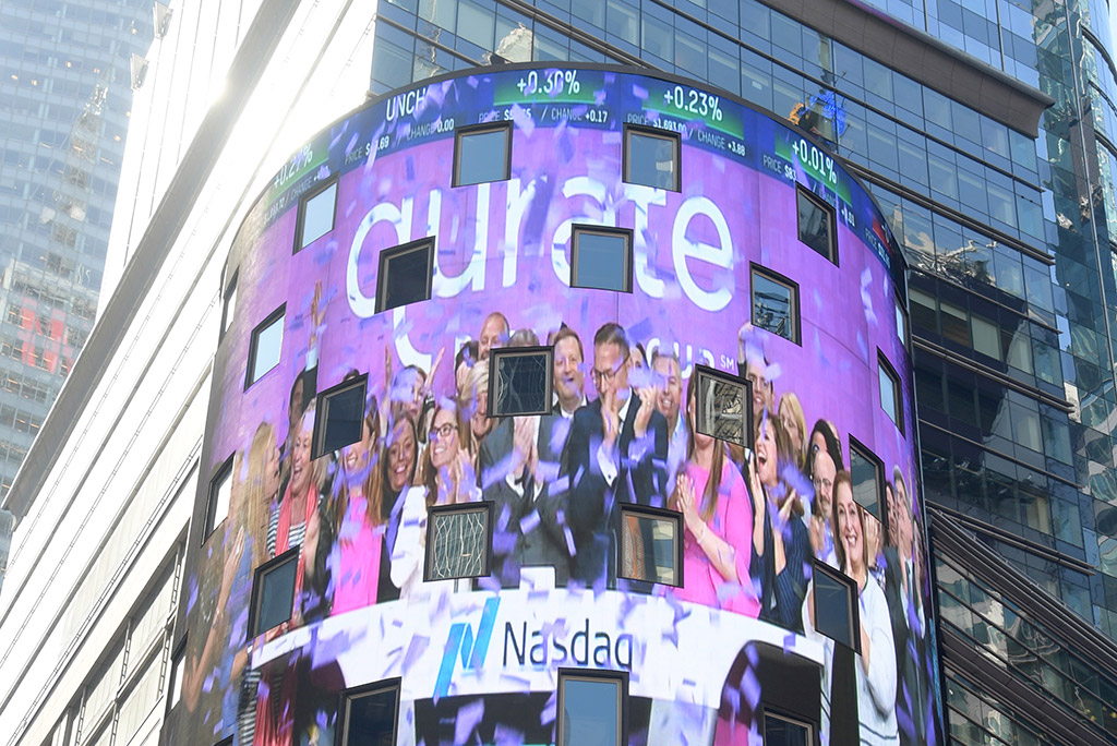 Qurate Retail on the Nasdaq Tower in Times Square