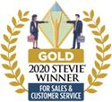 2020 Gold Stevie Winner for Sales & Customer Service
